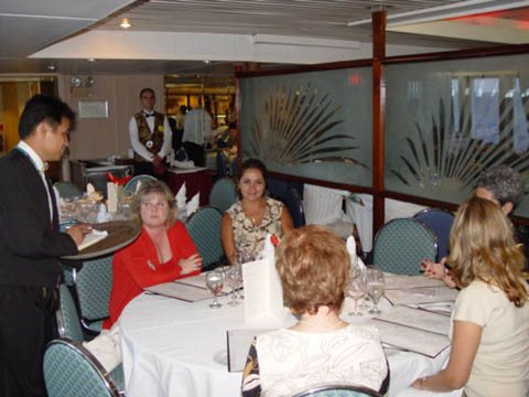 Guests being treated like celebrities aboard our cruise